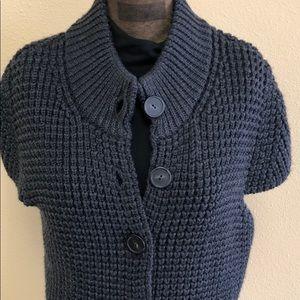 Etcetera size lg 109% wool short sleeve cardigan